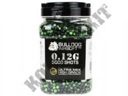 5000 x 6mm x 12g Black Green Ultra Mix Polished Airsoft BB Gun Pellets